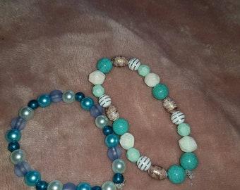 Hand made bead bracelets!
