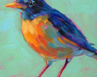 Robin - Bird Art - Paper - Canvas - Wood Block - Giclee Print