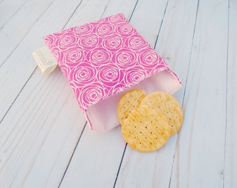 washable snack bags for women - reusable snack bag - food safe reusable bag - zero waste sandwich bag - snack bag - sandwich bag - lined bag