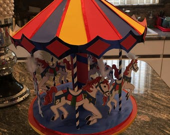 1  Carousel centerpiece of birthdays baby showers