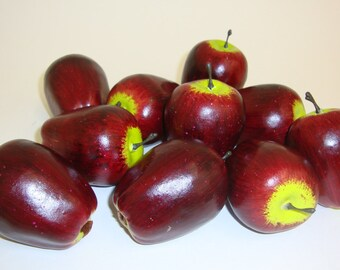 Artificial Fruit. Faux Mini Red Delicious Apples Fruit Kitchen Realistic Food Fake Display Home Decor. Bag of 12 Pieces.