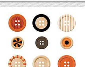 American Crafts Halloween Buttons