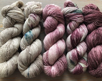 In Stock Fade Kit, Sock Weight Superwash Merino Wool, Single ply sock yarnIndie Dyed, Merino, Fading Point Kit, Shawl Yarn Kit