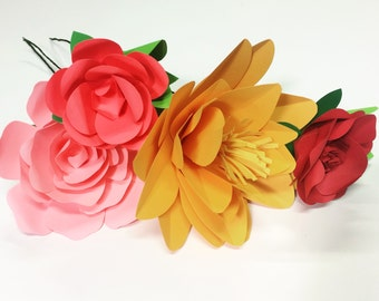 paper flower bouquet, wedding flowers, birthday gift, paper flowers, bridesmaid bouquet, paper roses,