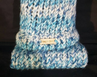 Blue and White Infant/Premie Photo Cocoon and Hat