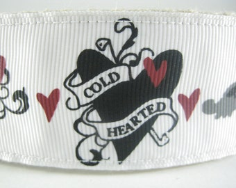 Cold Hearted Tattoos hemp dog collar