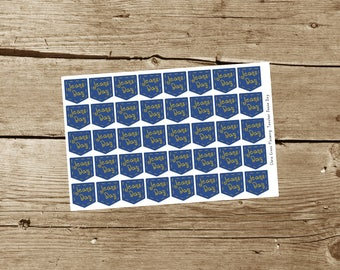 Teacher Jeans Day Planner Stickers