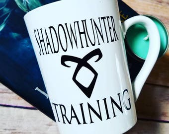 Shadowhunter training mug, City of Bones, Mortal instruments, runes, mundane, shadowhunters