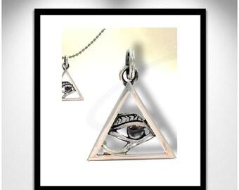 Occhio durante piramide _ ciondolo piramide occhio