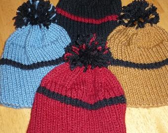 hat Childs hat/beanie/handknit/winter hat