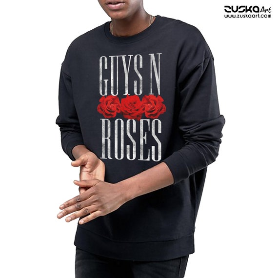 Guys 'N Roses | Unisex Heavy Blend Crewneck Sweatshirt | Rock music pun Guns 'N Roses | Gay Pride | Axl Rose | ZuskaArt