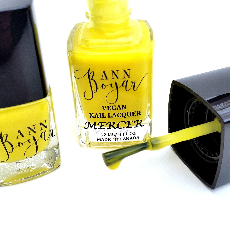 MERCER - Neon Yellow Creme Nail Polish, Luxury Nail Polish, Nail ...