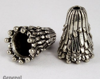 17mm Antique Silver Fringe Cone  #COB028