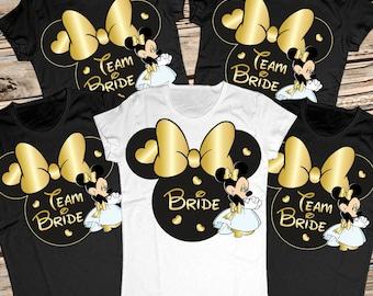 Bachelorette party shirts disney, Bridal party shirts, Bridesmaid shirts, Team bride shirts, Bridal squad shirts, Bride tribe shirts, Team