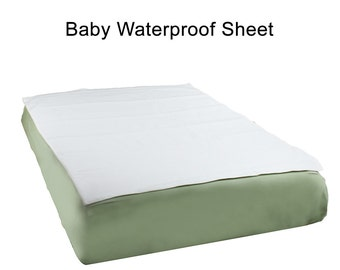 "Organic Cotton Crib fitted sheet And Waterproof Liner Pad - Crib Size 28"" x 52"""