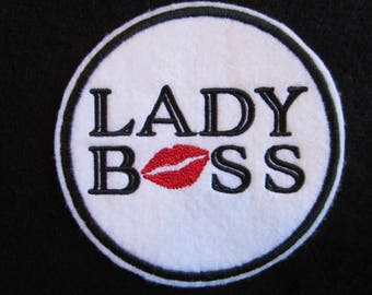 Embroidered Lady Boss Iron On Patch, Lady Boss, Iron On Patch, Boss Lady