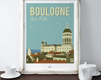 "Poster ""On the side of Boulogne"""