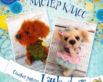 Crochet pattern Little Dogs, PDF pattern, DIY, crochet, instant digital download, dog pattern, little dog, crochet dogs, crochet toy, dogs