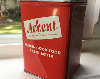 Vintage Accent Tin Canister