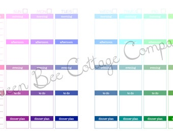Half-Size-Legal Undated Planner - Multi-colors & Hues