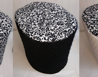 Black & White Floral Damask Keurig Coffee Maker Cover (3 Options Available)