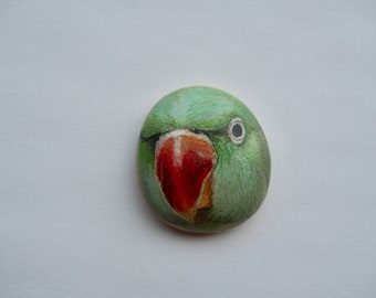 Green Parrot Stone