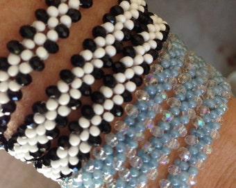 PATTERN RAW Wrap bracelet Peanuts Farfalle Crystals