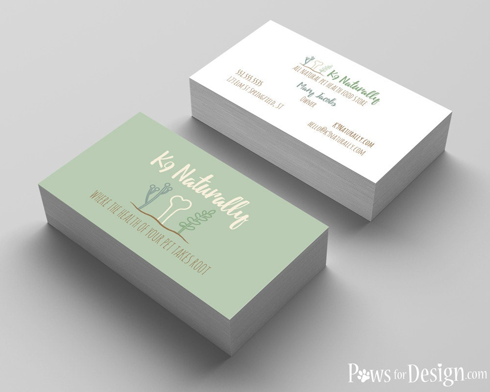 Pet Health Business Card Design pet food store pet nutrition