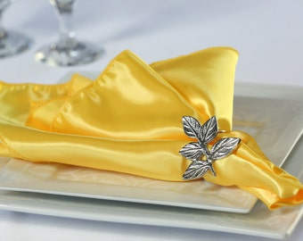 Yellow Napkin Satin