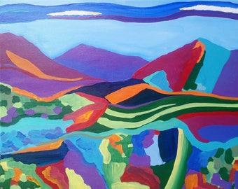 "Clayton Hills Original arylic painting 20"" x 16"""