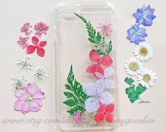 iPhone 6 Case, iPhone 6s Case, iPhone 5 Case, Samsung Galaxy S6 Case, S4 Case, 6s Plus Case, 6 Plus Case, Clear Pressed Flower Case Tree
