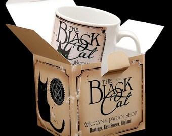 Black Cat ceramic mug
