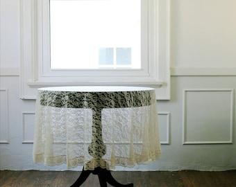 Vintage Blush Lace Table Cloth
