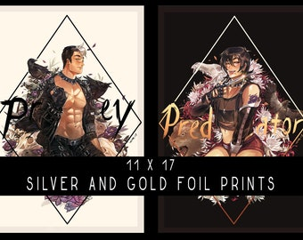 11 x 17 Silver and Gold Foil Prints