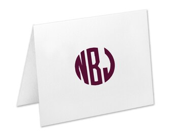 Monogram Stationery, Personalized Note Cards, Stationery, Circle Monogram, Thank You Cards, Stationary, Wedding, Notecards, Christmas Gift