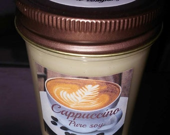 Cappuccino jelly jar
