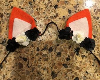 Fox Ears hair band / hair Clips