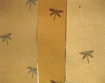Pindler Camden Place Perdita Dragonfly Designer Fabric Samples 3 pc LOT