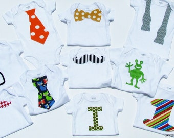 Hipster// Boy// Baby Shower //Applique Set//Set Of 10 Or 20// Fabric Iron On Appliques