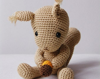 Amigurumi Crochet Squirrel Pattern - Simon the Squirrel - Softie - Plush