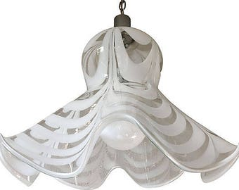 Midcentury Murano Glass Pendant Light