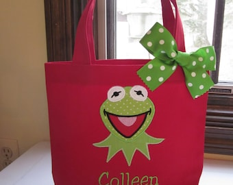 TOTE BAG Kermit the Frog Personalized Toddler or Big Kid Tote