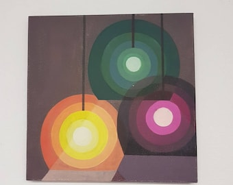 Aclylic on Canvas Paintings / Retro Lamps