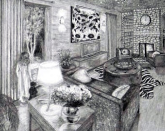 "Dream. Original Pencil Drawing on Strathmore 400 Series Paper. 14"" x 11"""