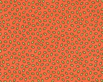 P&B Fabrics Piece O' Cake Frostings Orange Green Fabric Yardage OOP out of print