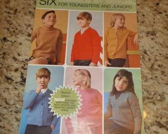Six Classic Knitting Patterns for Youngsters and Juniors by Bernat 1967