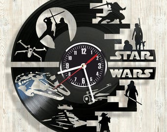 STAR WARS vinyl record wall clock best eco-friendly gift for any occasion