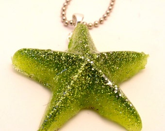 Jelly star - Resin Glitter Necklace