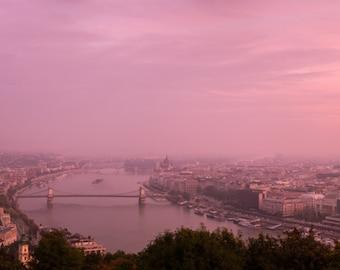 Budapest, Hungary, Skyline, World Travel, Urban Fine Art Print