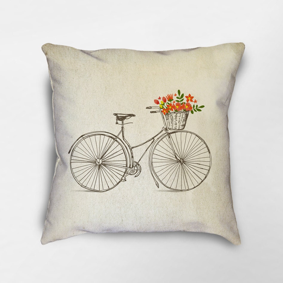 Bicycle Throw Pillow Bike Pillow Bicycle Gift Bicycle